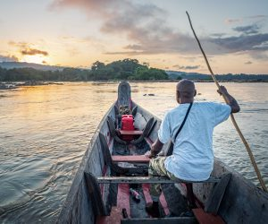 Sunrise on the Lawa, French Guiana, Sept. 2019.